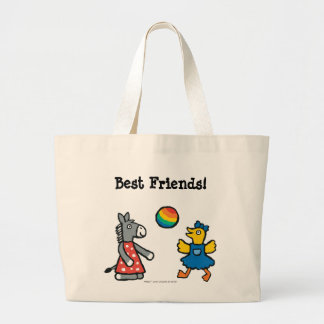 Maisy at Preschool with Friends on the Playground Large Tote Bag
