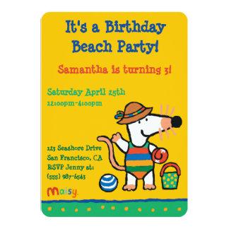 Maisy at the Beach Birthday Card