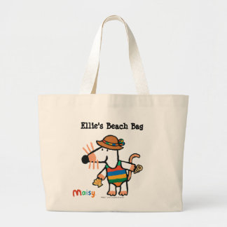 Maisy Collecting Shells At The Beach Large Tote Bag