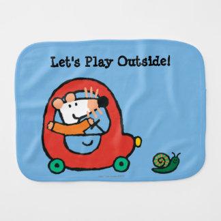 Maisy Drives a Cute Red Car Burp Cloth
