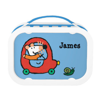 Maisy Drives a Cute Red Car Lunch Box