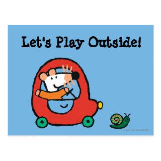 Maisy Drives a Cute Red Car Postcard