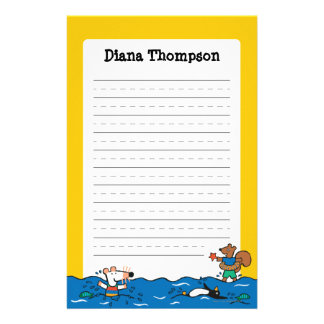 Maisy Goes Swimming at the Beach Stationery