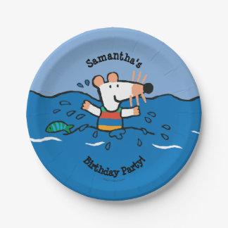 Maisy Goes Swimming Birthday Paper Plate