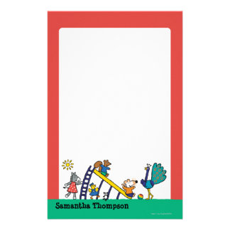 Maisy on the Playground with Friends Custom Stationery