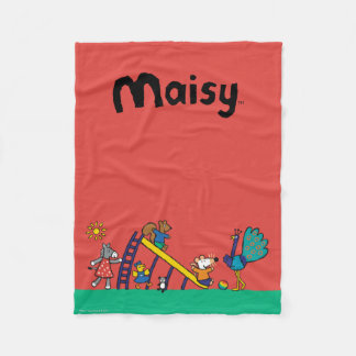 Maisy on the Playground with Friends Fleece Blanket