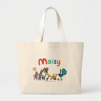 Maisy on the Playground with Friends Large Tote Bag