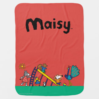 Maisy on the Playground with Friends Receiving Blankets