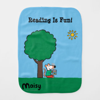 Maisy Reads Her Library Book Outside Burp Cloth