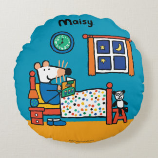 Maisy Ready for Bed Blue Pajamas Round Cushion