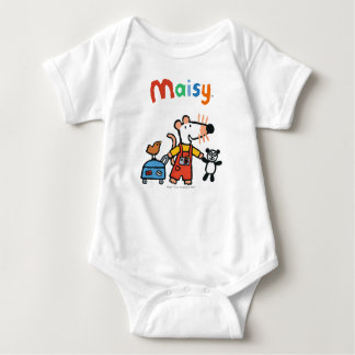 Maisy Ready for Vacation with Luggage Baby Bodysuit
