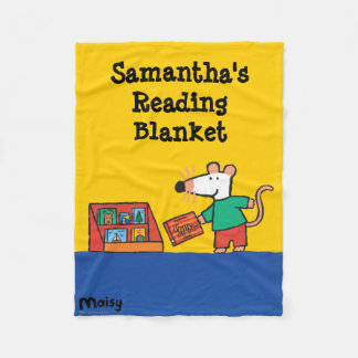 Maisy with Library Books Fleece Blanket
