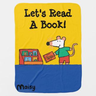 Maisy with Library Books Pram blanket