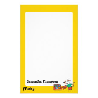 Maisy with Library Books Stationery Design