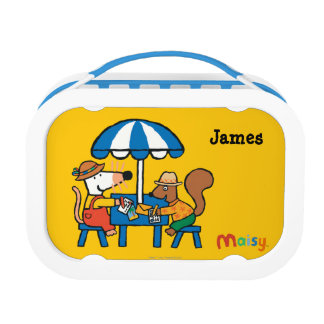 Maisy Writes Postcards under Blue Umbrella Lunch Box