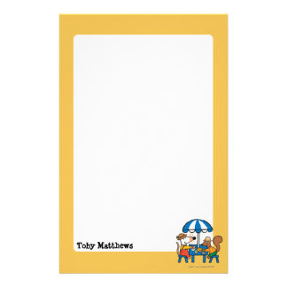 Maisy Writes Postcards under Blue Umbrella Stationery