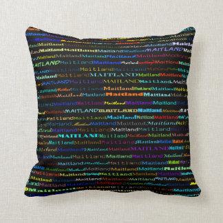 Maitland Text Design I Throw Pillow Throw Cushion