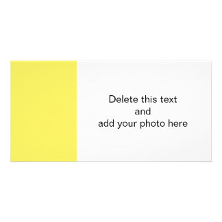 Maize High End Solid Colored Personalized Photo Card