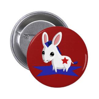 Maize the Democratic Donkey 6 Cm Round Badge