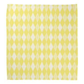 Maize Yellow Argyle Pale Gold Small Diamond Shape Kerchief