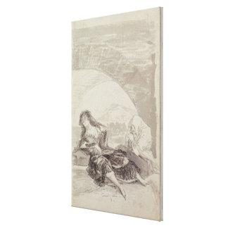 Maja and Celestina under an arch Canvas Print