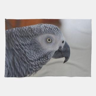 Majestic African Grey Parrot Tea Towel