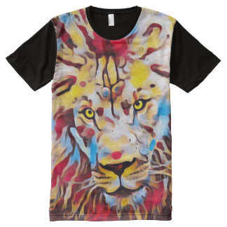 Majestic African Lion Urban Graffiti Street Art All-Over Print T-Shirt