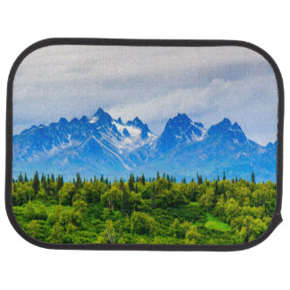Majestic Alaska Mountains Car Mat