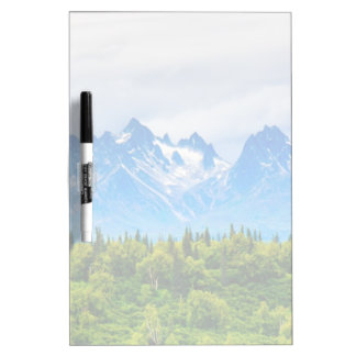 Majestic Alaska Mountains Dry Erase Board