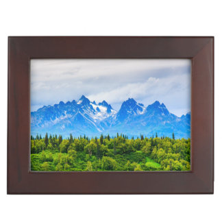 Majestic Alaska Mountains Keepsake Box