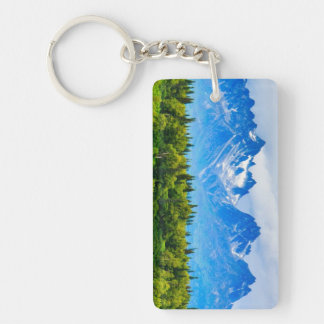 Majestic Alaska Mountains Key Ring