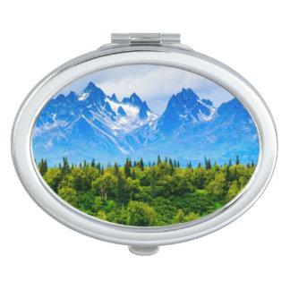 Majestic Alaska Mountains Makeup Mirror