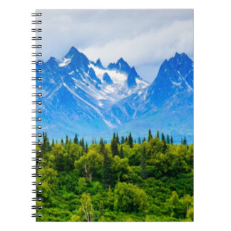 Majestic Alaska Mountains Note Books