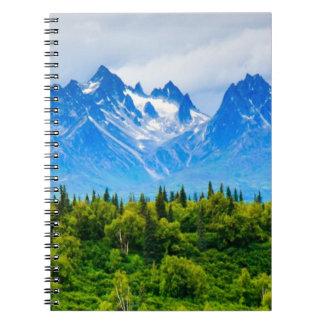 Majestic Alaska Mountains Notebooks