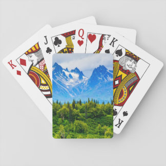 Majestic Alaska Mountains Playing Cards