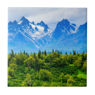 Majestic Alaska Mountains Tile