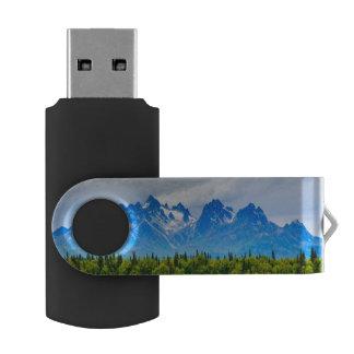 Majestic Alaska Mountains USB Flash Drive