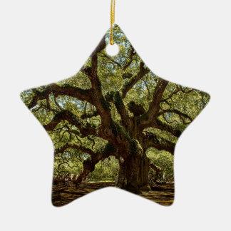 Majestic Angel Oak Christmas Ornament