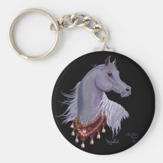 Majestic Arabian Horse Key Chain