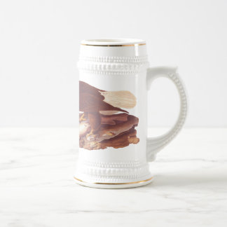 Majestic Bald Eagle by Audubon with Fresh Fish Beer Steins