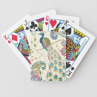 Majestic Blue Peacock Bicycle Playing Cards