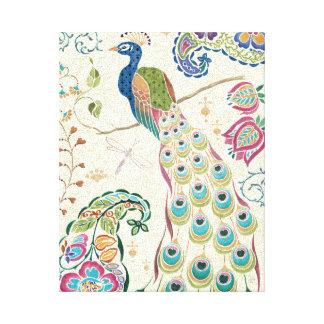 Majestic Blue Peacock Canvas Print