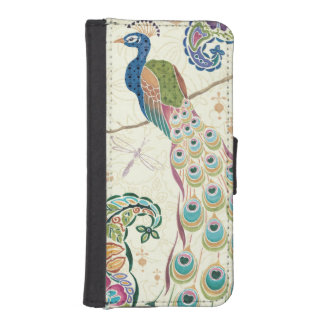 Majestic Blue Peacock iPhone SE/5/5s Wallet Case