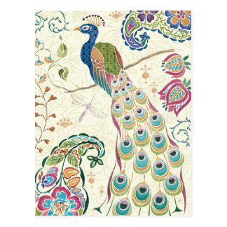 Majestic Blue Peacock Postcard