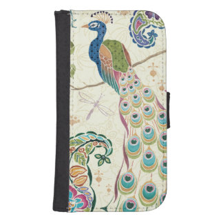 Majestic Blue Peacock Samsung S4 Wallet Case