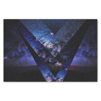 Majestic Blue Sparkly Starry Nebula Night Sky Tissue Paper