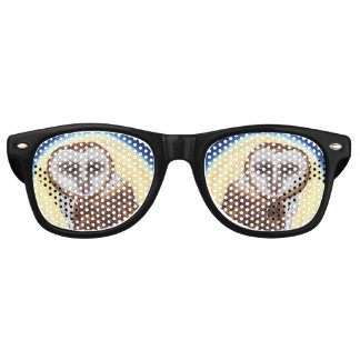 Majestic Brown Spotted Owl Yellow Moon Retro Sunglasses