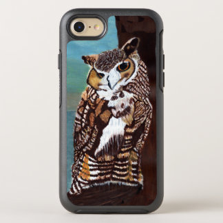 Majestic Brown White Owl in Tree Blue Sky OtterBox Symmetry iPhone 7 Case