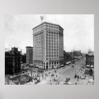 Majestic Building, Detroit: 1899 Poster