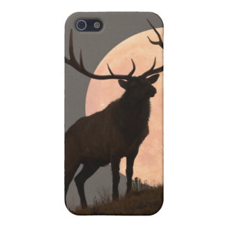 Majestic Bull Elk and Full Moon Rise Case For iPhone 5/5S